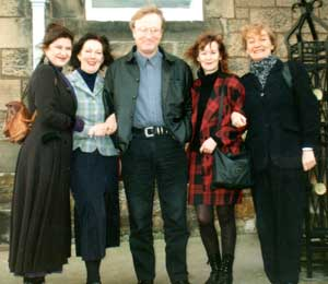 From left to right, Annabelle Campbell, Maggie Rattroy, Scott Martin, Joy Bird and Frances Carling